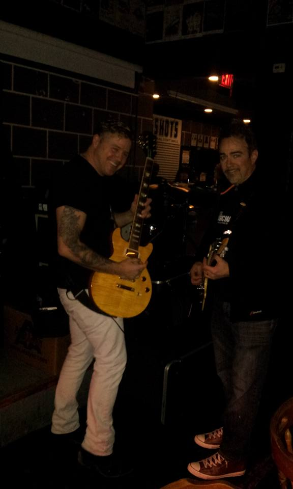 Ian K and Dan tuning u for the very first Ian K show in Etobicoke at The Rockpile